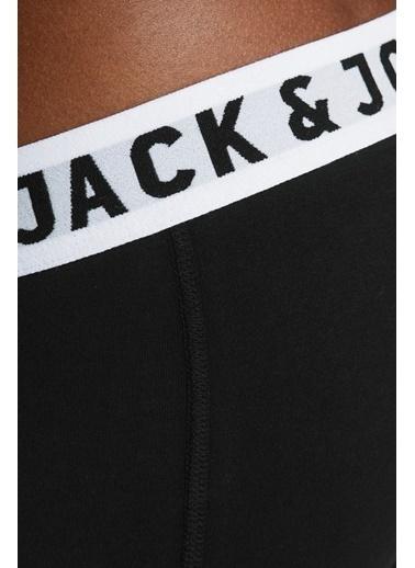Jack & Jones Jack&Jones Erkek 3'Lü Boxer 12081832 Siyah